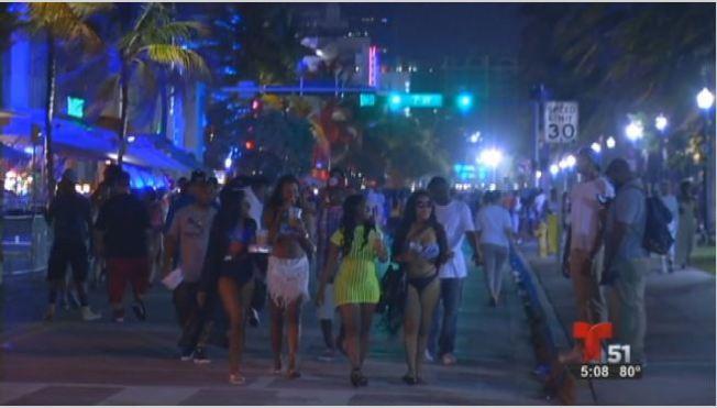 Descienden arrestos en festival de Miami Beach