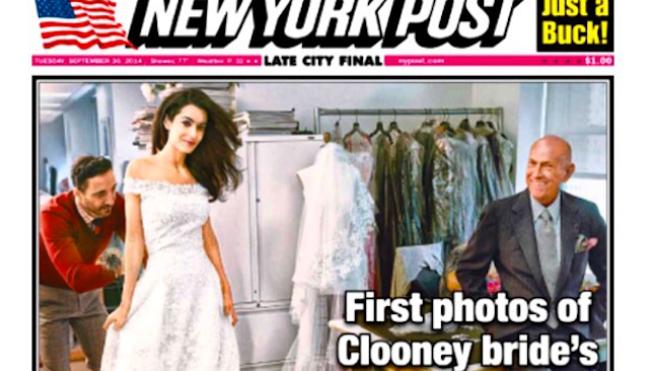Novia de Clooney, con sello hispano