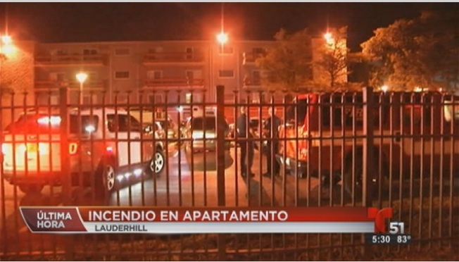 Broward: Incendio en apartamentos de Lauderhill