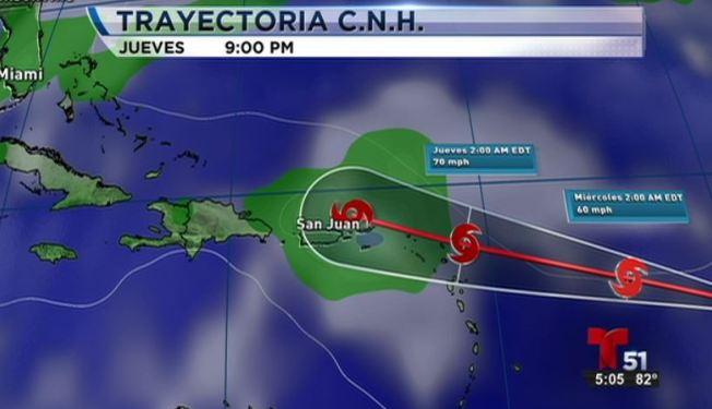 Tormenta tropical Erika hacia las Antillas