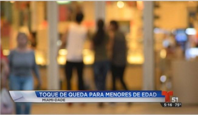 Miami: Toque de queda para menores de edad