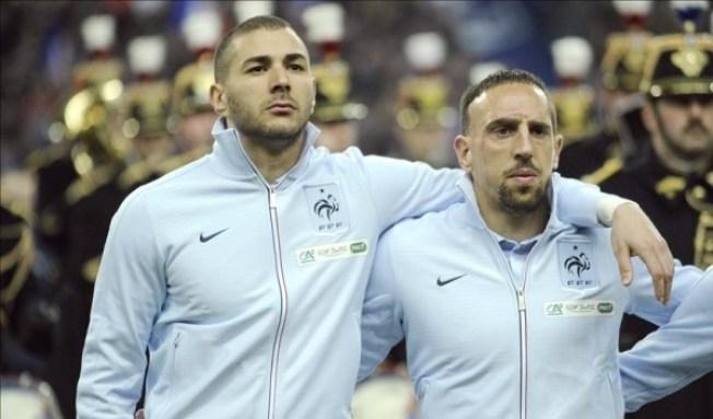 Absuelven a Benzema y Ribéry
