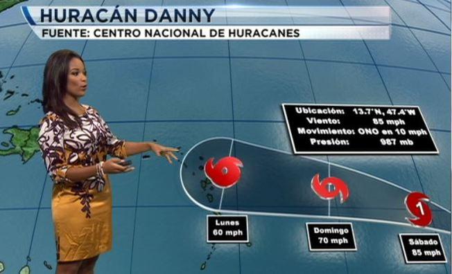 Huracán Danny se transforma en Categoría 2