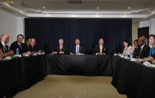 Barack Obama se reúne con disidentes cubanos