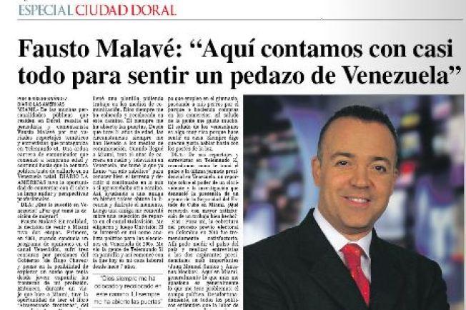 """Fausto Malavé, un """"doralino"""" más"""