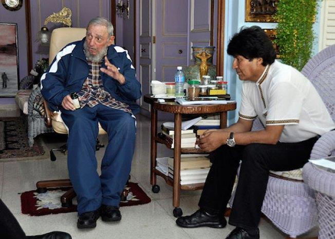 """Evo Morales: """"Fidel Castro ya está abuelito"""""""