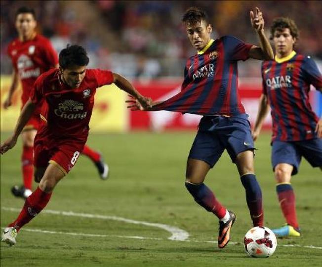 El primer gol de Neymar blaugrana