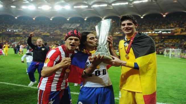 Falcao brilla y el Atlético gana la final contra Athletic