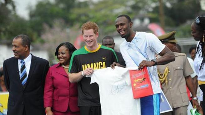 El príncipe Enrique gana en una carrera a Usain Bolt