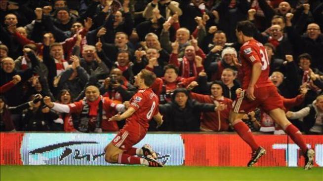 Gerrard acaba con la mala racha del Liverpool