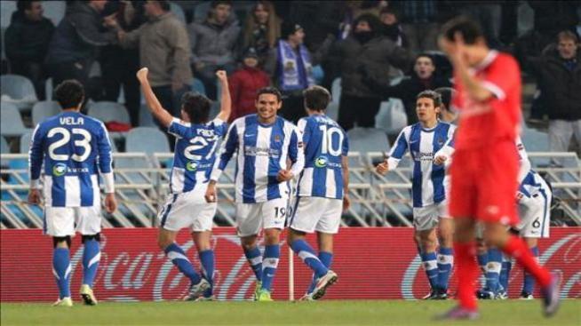 Carlos Vela anotó en el triunfo de Real Sociedad