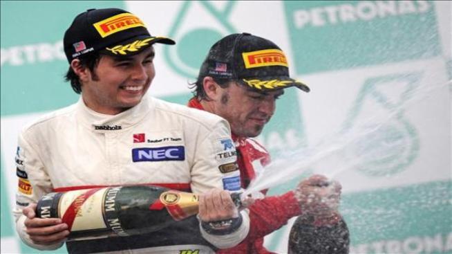 """""""Checo"""" Pérez terminó segundo en el Gran Premio de Malasia"""