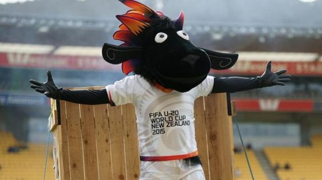 La mascota de Nueva Zelanda Sub-20 2015