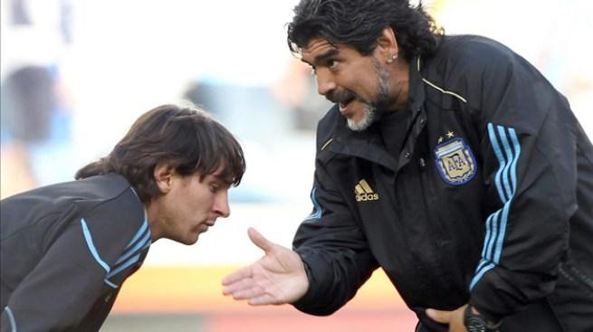 Maradona defiende a Messi