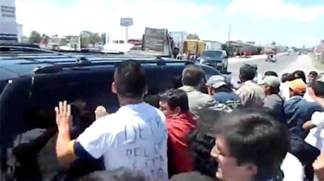 Atacan a Peña Nieto
