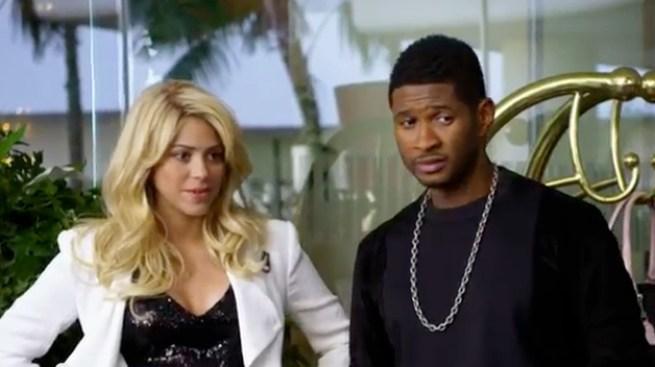 Shakira en promo para The Voice