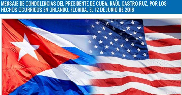 Raúl Castro envía condolencias a Obama por acto terrorista