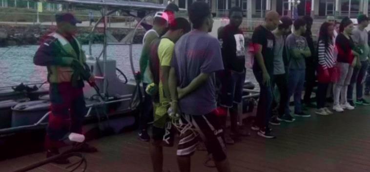 Balseros cubanos capturados en Nicaragua