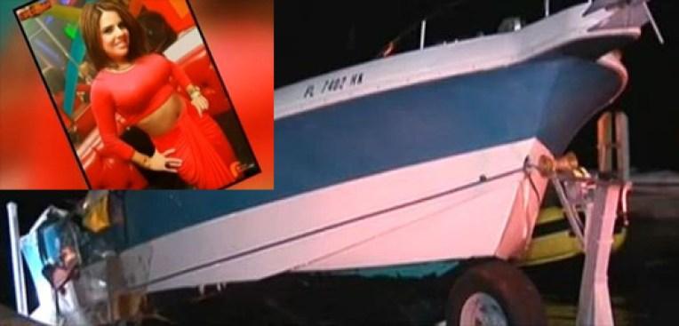 Joven muerta en accidente de bote