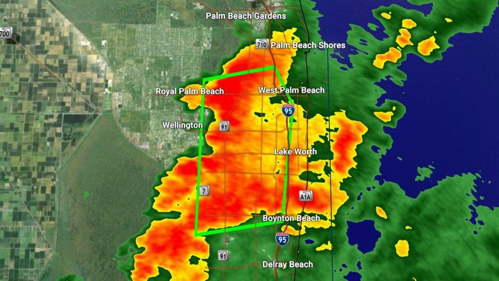 Fuertes lluvias en el condado Palm Beach