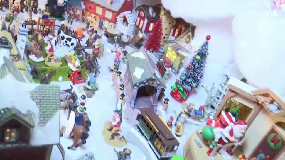 8fc0b87904c Construyen villa navideña en miniatura - Telemundo 51