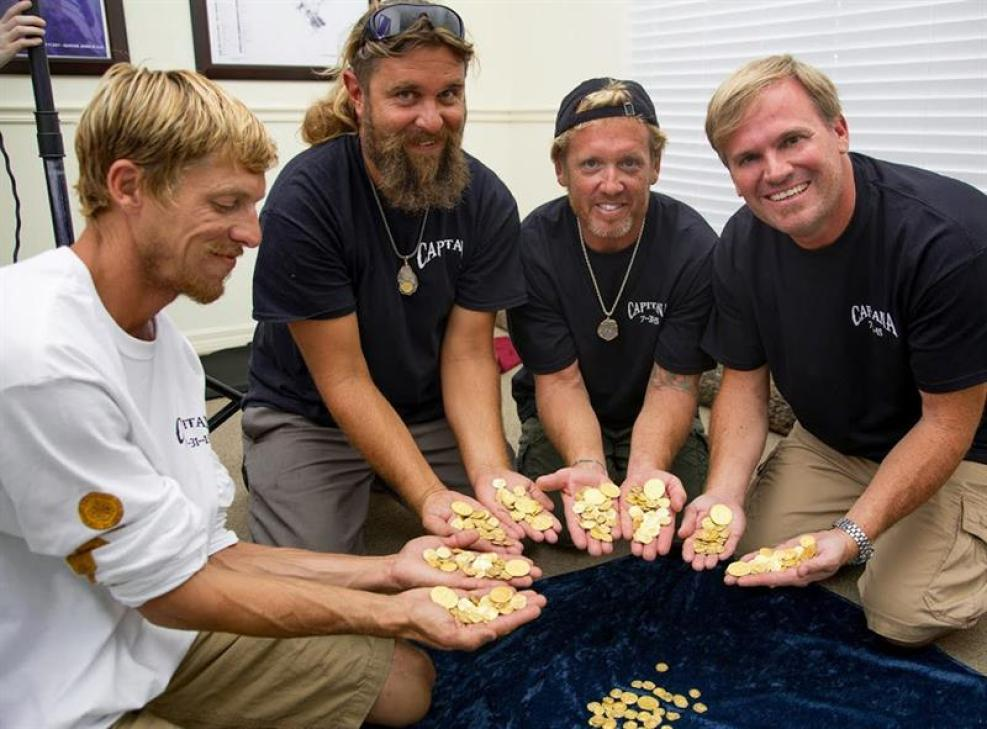 Tesoro millonario en la playa: monedas perdidas hace 300 años TLMD-Florida-tesoro-350-monedas-de-oro-vero-beach-EFE-635756779684578228w